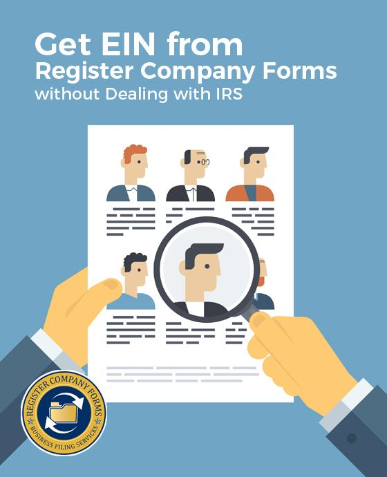 Get EIN from Register Company Forms without Dealing with IRS