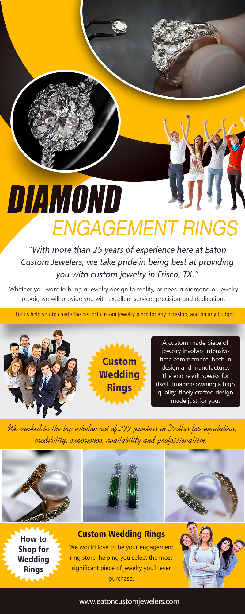 How To Shop For Wedding Rings | 972 335 6500 | eatoncustomjewelers.com