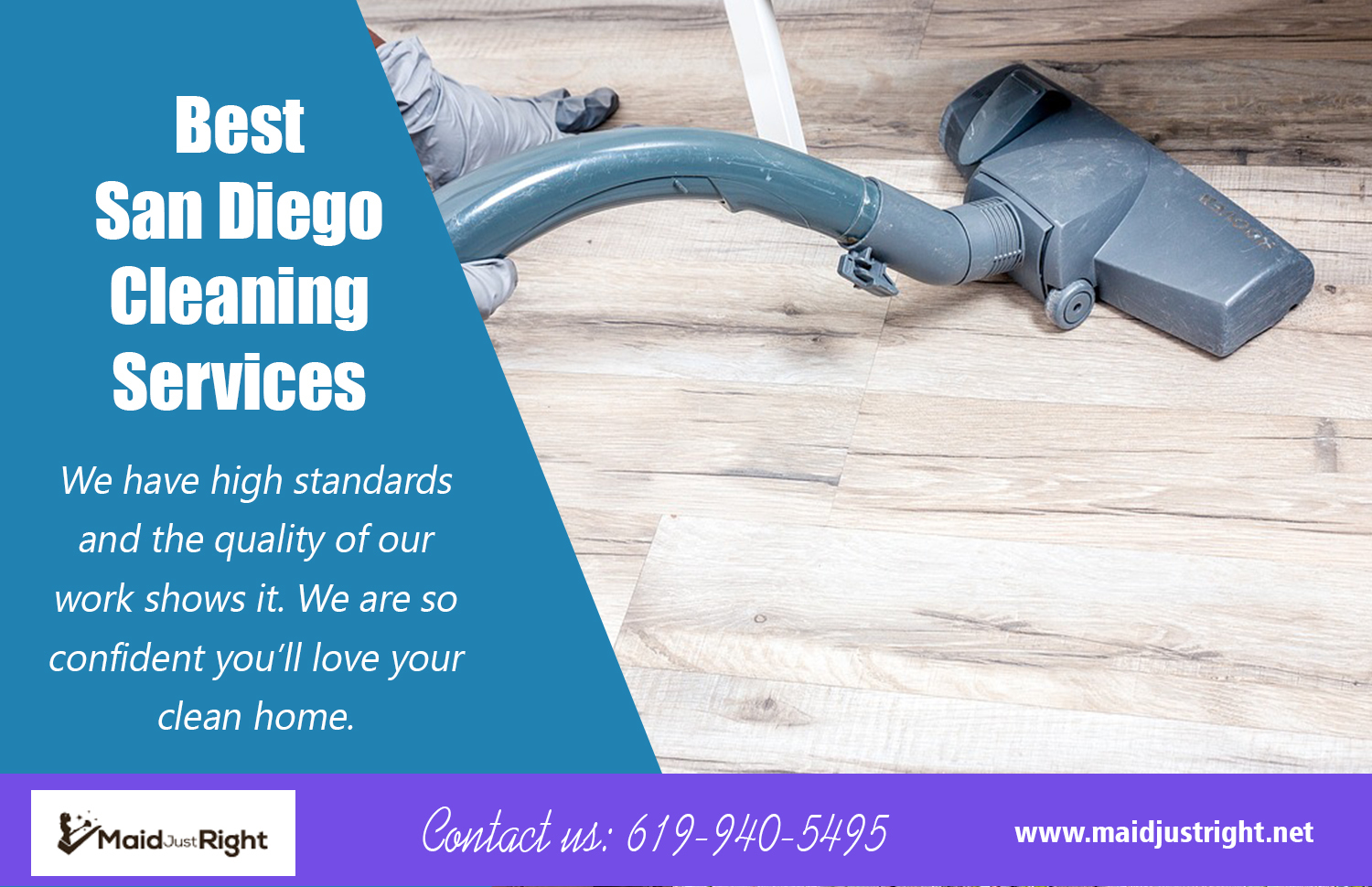 Best San Diego Cleaning Services | Call Us - 619-940-5495 | maidjustright.net
