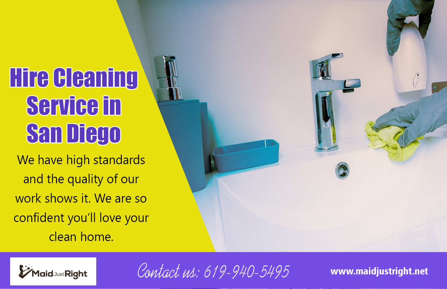 Hire Cleaning Service In San Diego | Call Us - 619-940-5495 | maidjustright.net