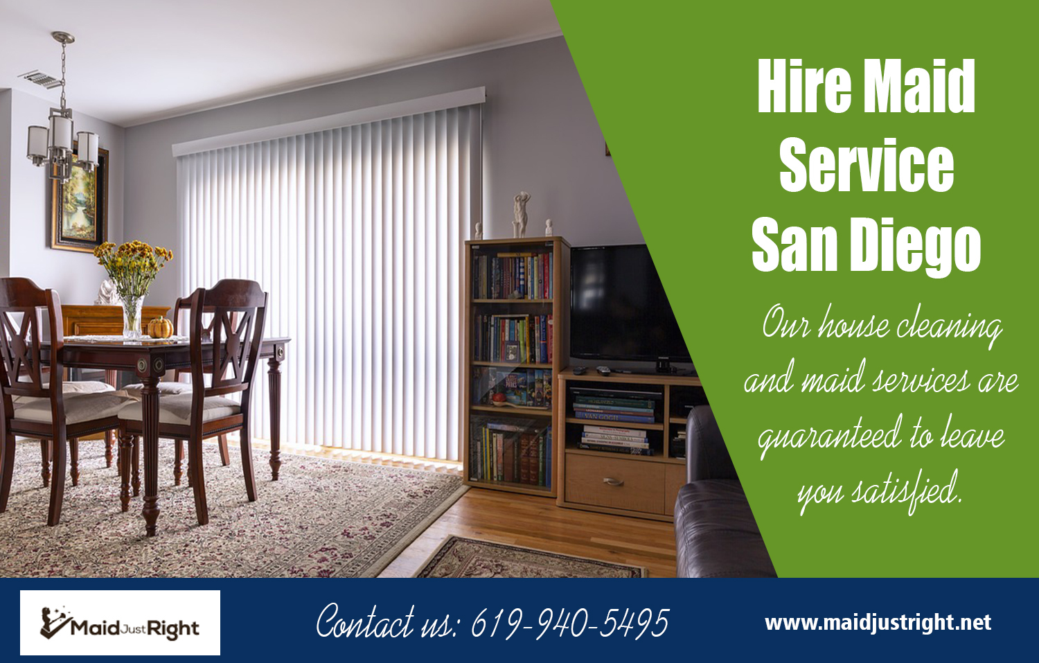 Hire Maid Service San Diego | Call Us - 619-940-5495 | maidjustright.net