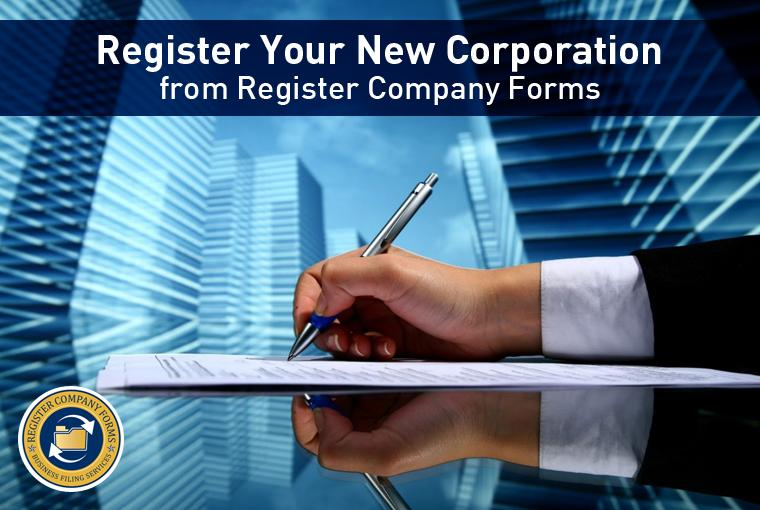 Register Your New Corporation from Register Company Forms