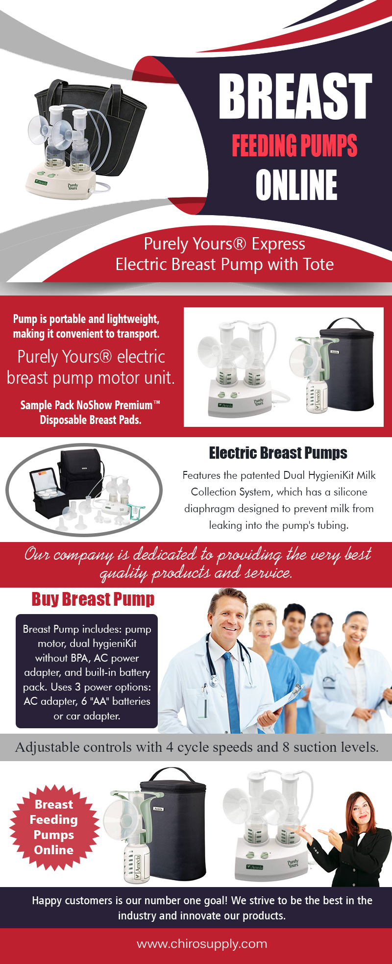 Breast Feeding Pumps Online | 8775639660 | chirosupply.com