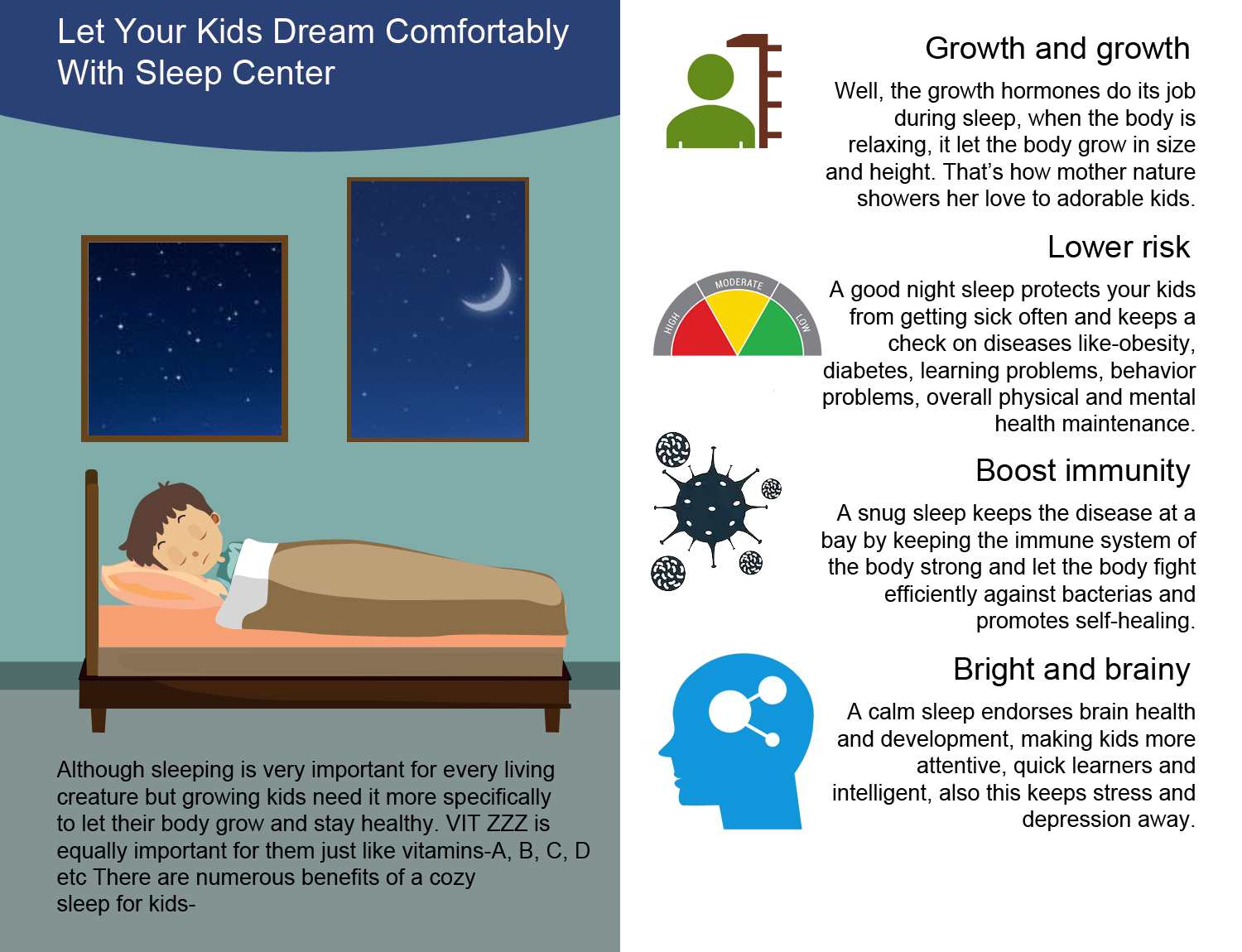 Let Your Kids Dream Comfortably With Sleep Center