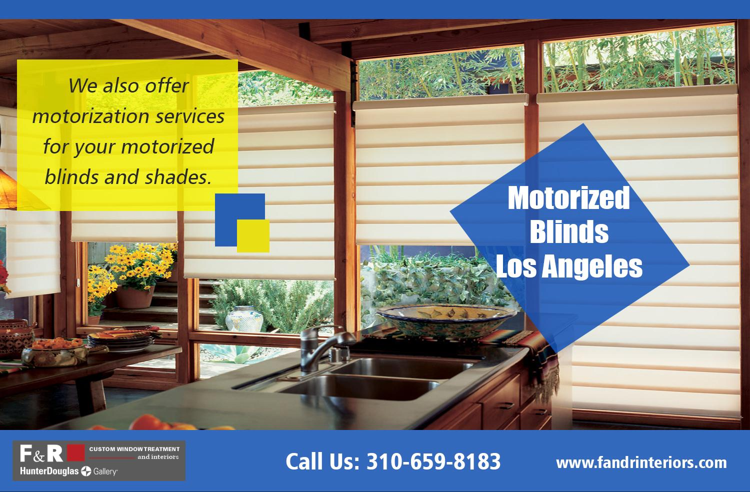 Motorized blinds Los Angeles| http://fandrinteriors.com/