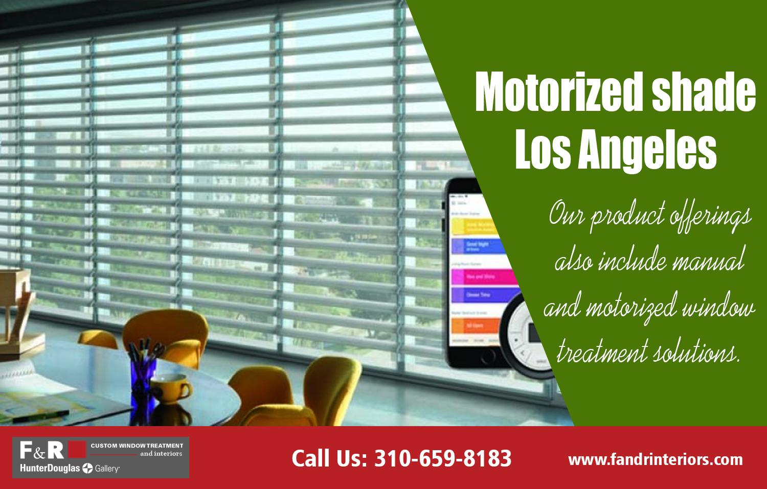 Motorized shade Los Angeles| http://fandrinteriors.com/
