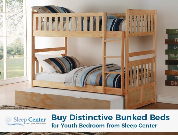 Buy Distinctive Bunked Beds for Youth Bedroom from Sleep Center