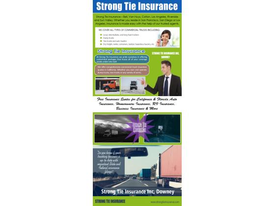 Strong Tie commercial trucking insurance