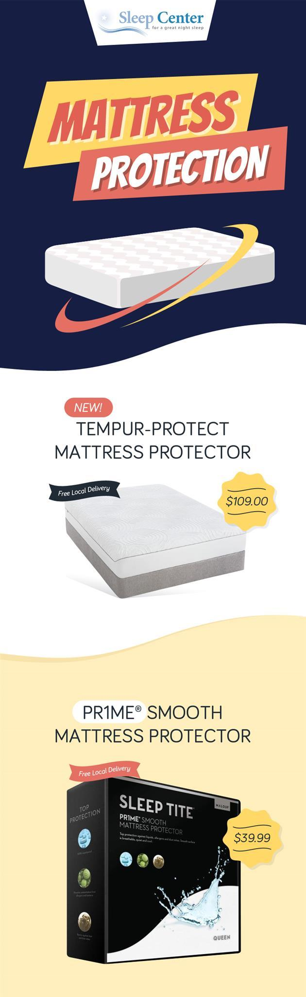 Purchase Quality Mattress Protector in Sacramento from Sleep Center