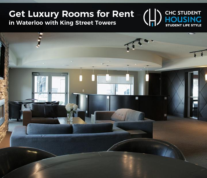 Get Luxury Rooms for Rent in Waterloo with King Street Towers