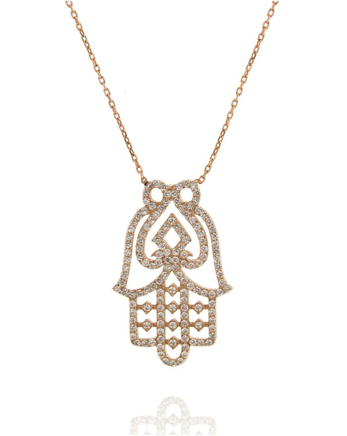 Sterling Silver Hamsa Hand Small Necklace