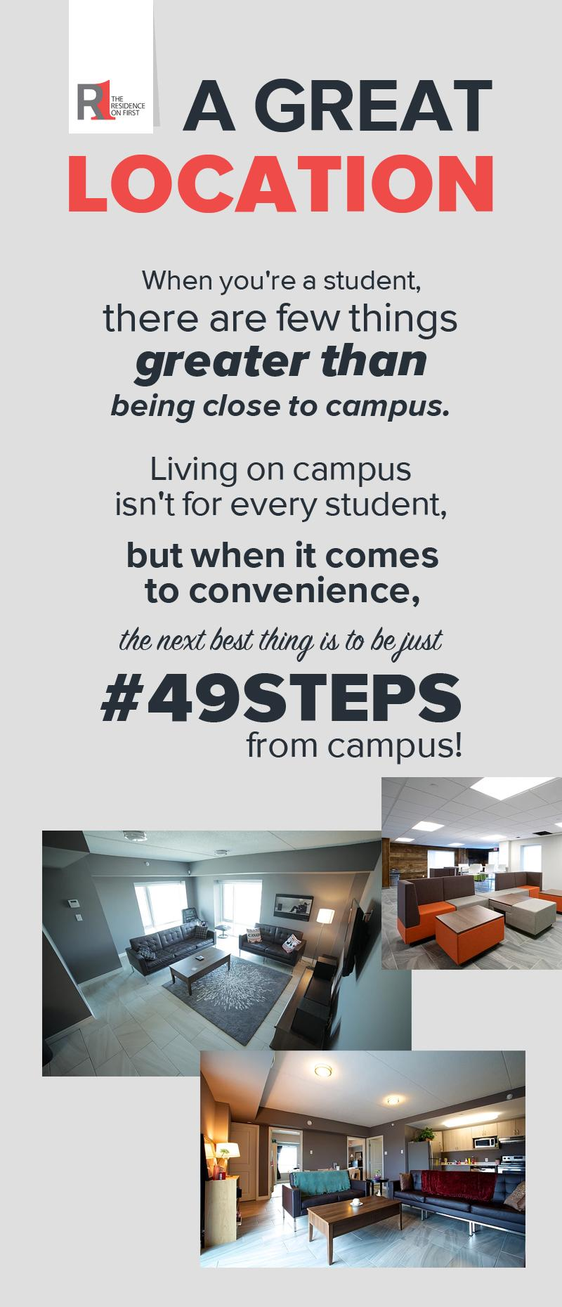 Residence on First - A Great Location for Students to Live Off-Campus