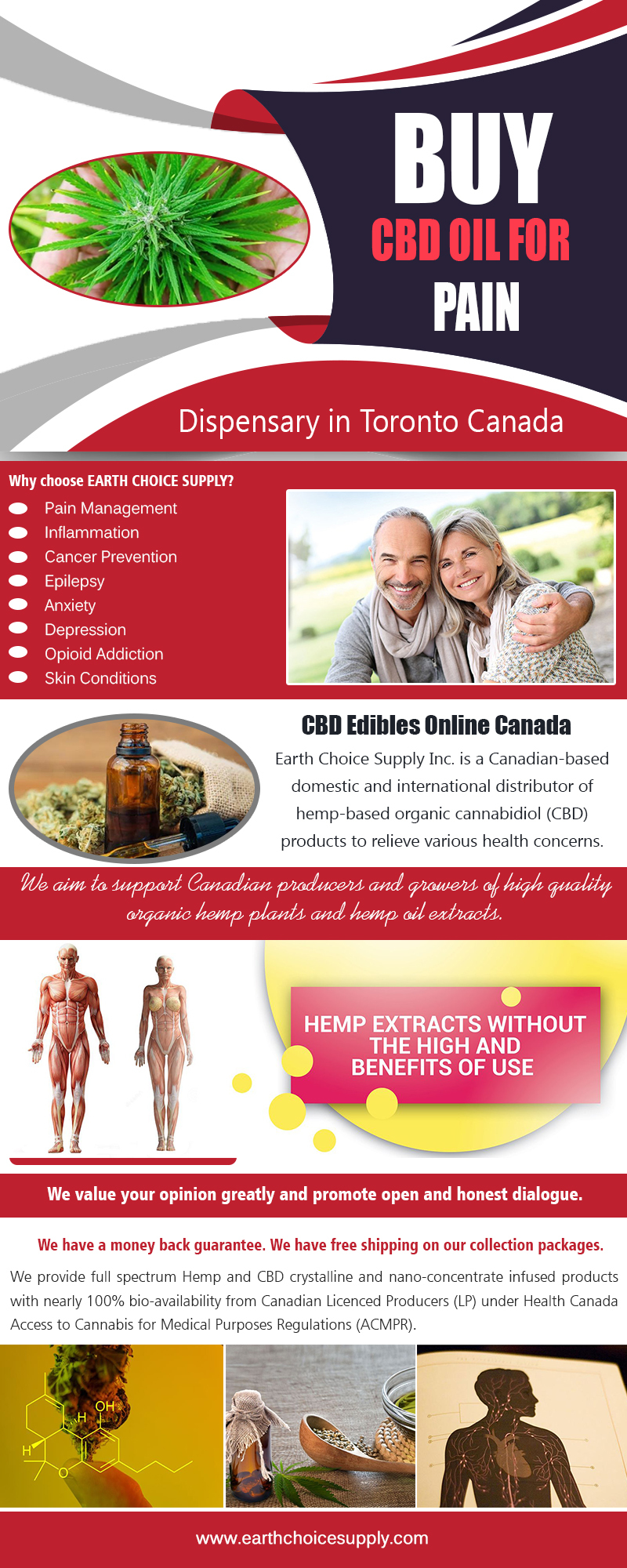 Buy Best CBD Oil for Pain | Call Us - 416-922-7238 | earthchoicesupply.com