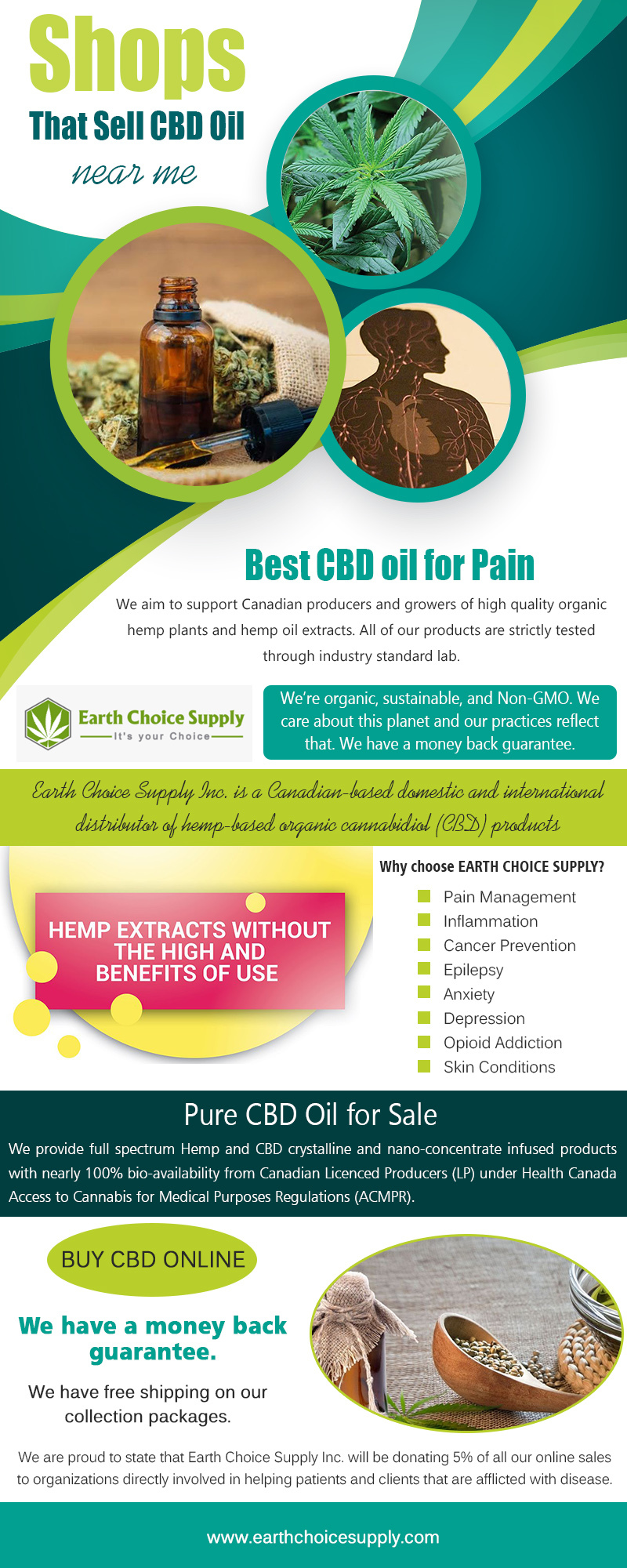 Shop that Sell CBD Oil Near me | Call Us - 416-922-7238 | earthchoicesupply.com
