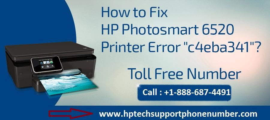 "How to Fix HP Photosmart 6520 Printer Error ""c4eba341""?"