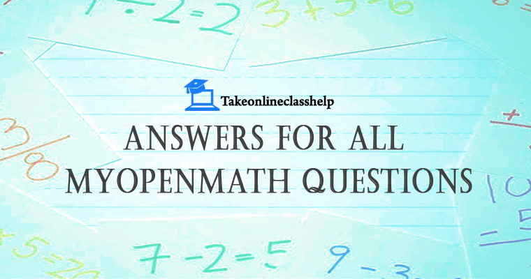 Premium Assignment Help To Input MyOpenMath Answers| TakeOnlineClass