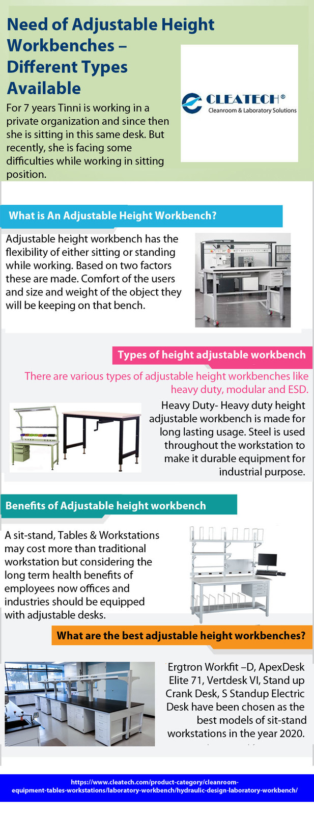 Need of Adjustable Height Workbenches – Different Types Available