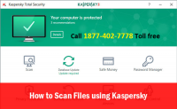 Tips on How to scan your PC using Kaspersky Antivirus 2017