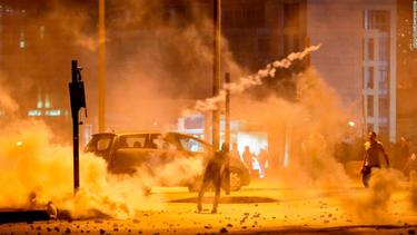 Violent protests erupt on streets of Beirut