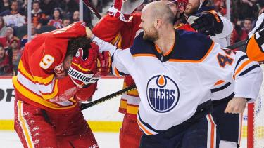Oilers' Zack Kassian promises more retribution for Flames' Matthew Tkachuk after suspension
