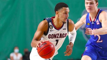 No. 1 Gonzaga men's basketball swarms No. 6 Kansas for season-opening win