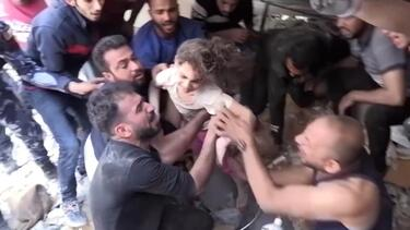 6-year-old airstrike survivor pulled from rubble - CNN Video