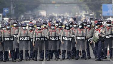 Myanmar police shoot dead seven protesters in bloodiest day since the coup