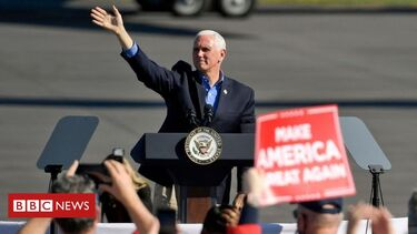 US election 2020: Pence stays campaigning despite aide's Covid diagnosis