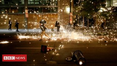 Violence erupts across US on sixth day of protests
