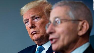 Dr. Anthony Fauci hasn't spoken with Trump in two weeks
