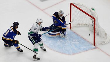 Defending champion Blues defiant despite 0-2 series hole vs. Canucks