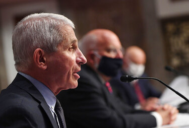 "The efficiency of coronavirus transmission is ""really striking,"" Fauci says"
