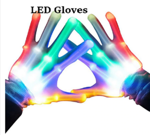 LED Light Gloves Flashing Finger Glow