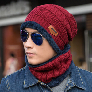 Two-piece knitted hat